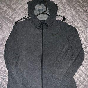 Nike workout DRIFIT zip up hoodie
